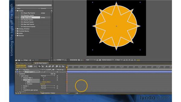 Creating compound paths: After Effects Apprentice 14: Shape Layers