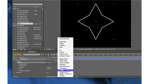 Exploring shape effects: After Effects Apprentice 14: Shape Layers