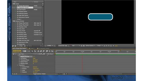 Wiggle Transform: After Effects Apprentice 14: Shape Layers