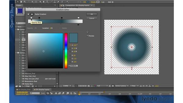 Editing gradients: After Effects Apprentice 14: Shape Layers