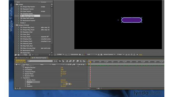 Automatic animation: After Effects Apprentice 14: Shape Layers