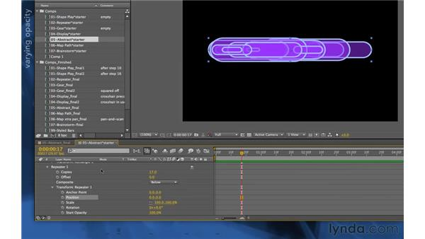 Creating a swarm: After Effects Apprentice 14: Shape Layers