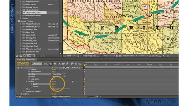 Dashes and gaps: After Effects Apprentice 14: Shape Layers