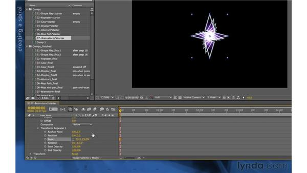 Using the Repeater to create an end pose: After Effects Apprentice 14: Shape Layers