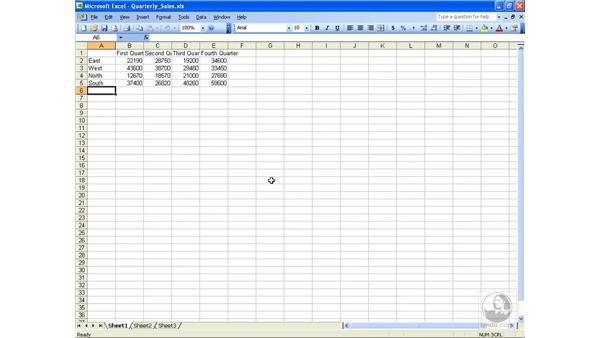Moving around: Excel 2003 Essential Training