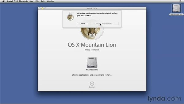 Installing Mountain Lion: Mac OS X Mountain Lion Essential Training