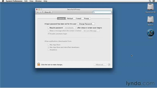 Configuring Gatekeeper settings: Mac OS X Mountain Lion Essential Training