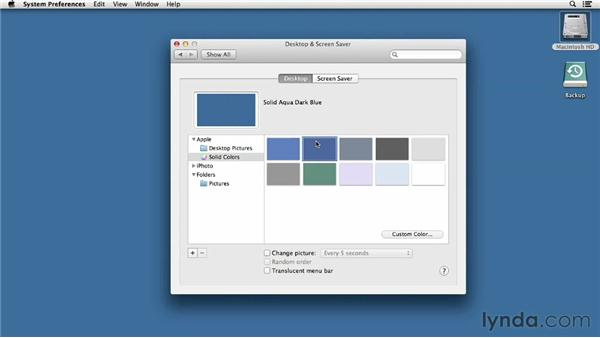 Configuring basic personal preferences: Mac OS X Mountain Lion Essential Training