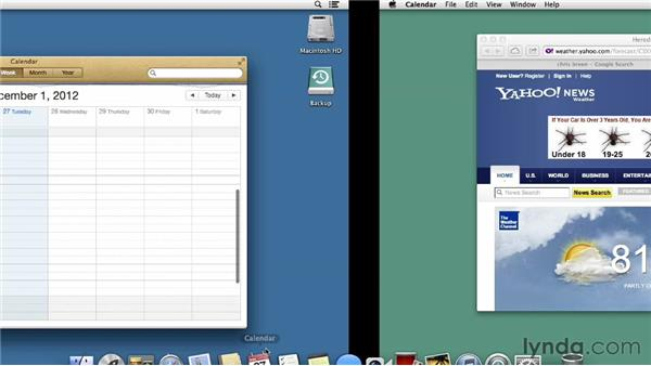 Organizing workspaces with Mission Control: Mac OS X Mountain Lion Essential Training