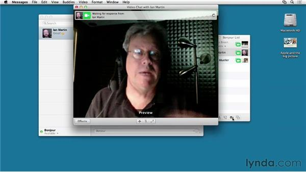 Staying in touch using Messages: Mac OS X Mountain Lion Essential Training