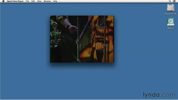 Playing media in QuickTime: Mac OS X Mountain Lion Essential Training