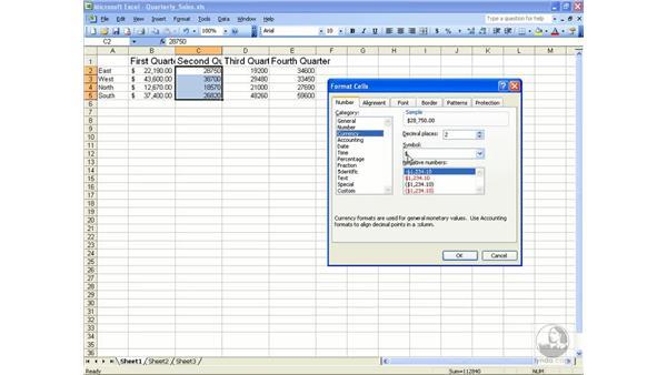 Numeric formats: Excel 2003 Essential Training