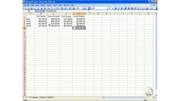 Naming cells and ranges: Excel 2003 Essential Training