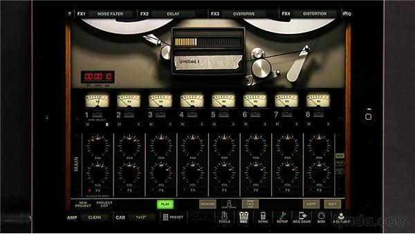 Using effects and sends: iPad Music Production: AmpliTube