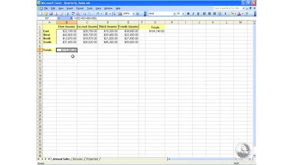 Creating formulas: Excel 2003 Essential Training