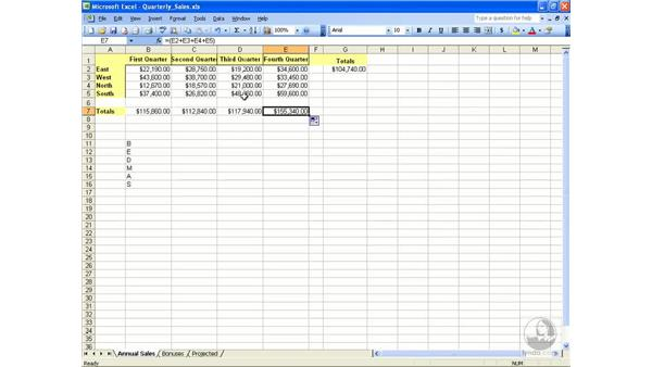 Relative and absolute: Excel 2003 Essential Training