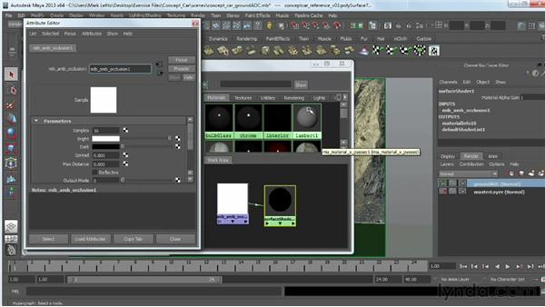 Creating a ground occlusion pass: Photorealistic Lighting with Maya and Nuke