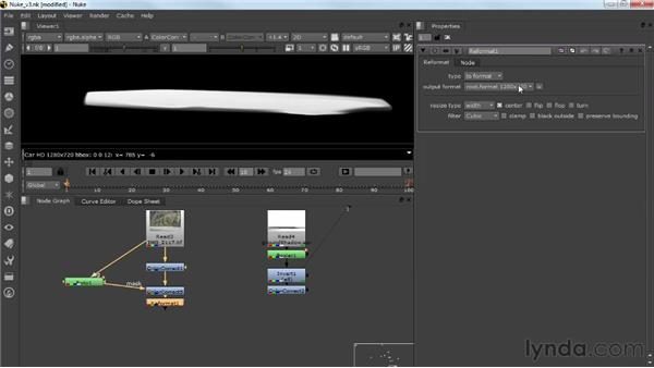 Adding the background plate and the shadow: Photorealistic Lighting with Maya and Nuke