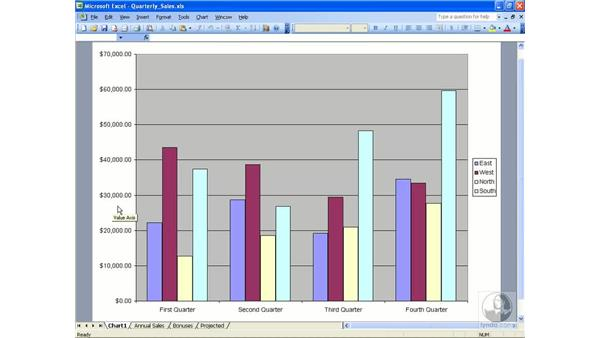 Chart terminology: Excel 2003 Essential Training