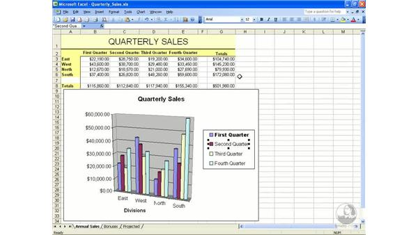 Formatting charts: Excel 2003 Essential Training