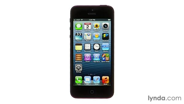 The Home screen and Home button: iPhone and iPod touch iOS 6 Essential Training