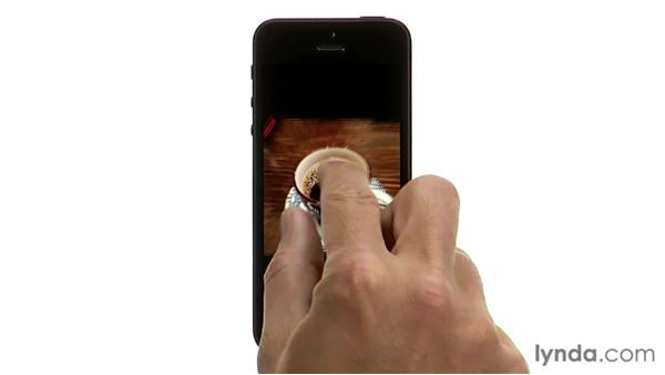 Learning finger gestures: iPhone and iPod touch iOS 6 Essential Training