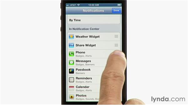 Using the Notification Center: iPhone and iPod touch iOS 6 Essential Training