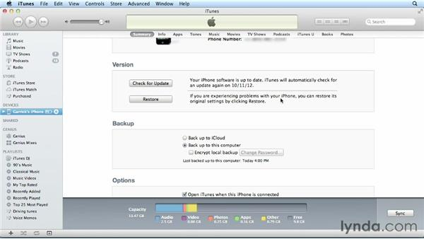 Connecting your iPhone to your Mac or PC: iPhone and iPod touch iOS 6 Essential Training