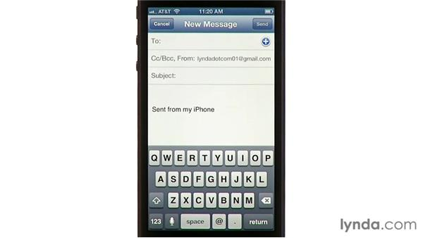 Saving images: iPhone and iPod touch iOS 6 Essential Training