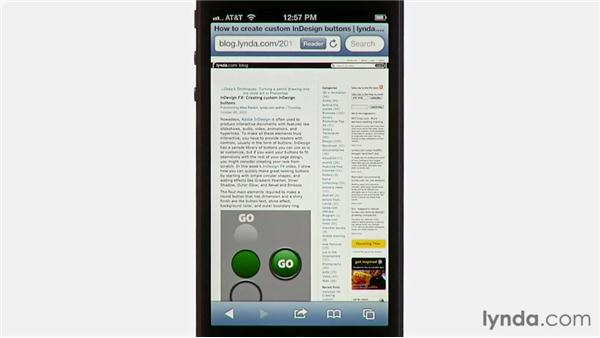 Using Reader and the Reading List: iPhone and iPod touch iOS 6 Essential Training
