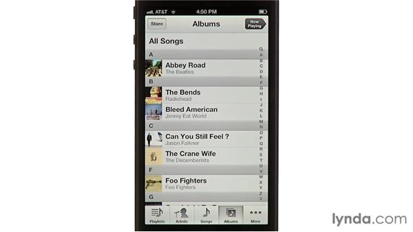 Browsing your library: iPhone and iPod touch iOS 6 Essential Training