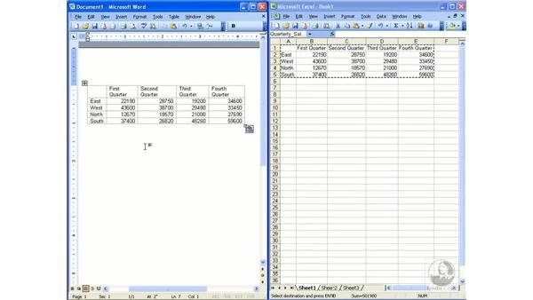 Exporting data: Excel 2003 Essential Training