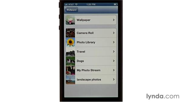Customizing your wallpaper: iPhone and iPod touch iOS 6 Essential Training