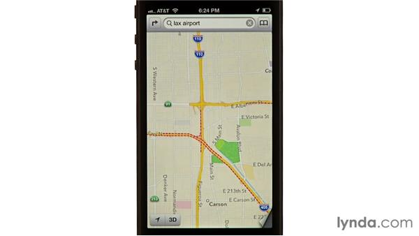 Showing traffic and alternate maps: iPhone and iPod touch iOS 6 Essential Training