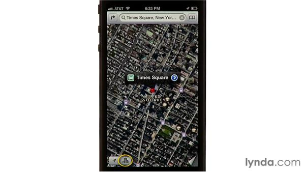 Using 3D and Flyover views: iPhone and iPod touch iOS 6 Essential Training