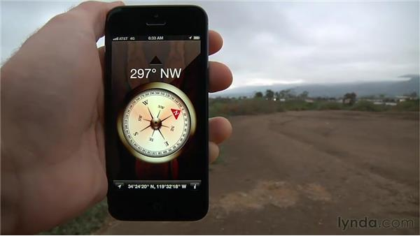 Using the Compass app: iPhone and iPod touch iOS 6 Essential Training