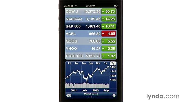 Stocks: iPhone and iPod touch iOS 6 Essential Training