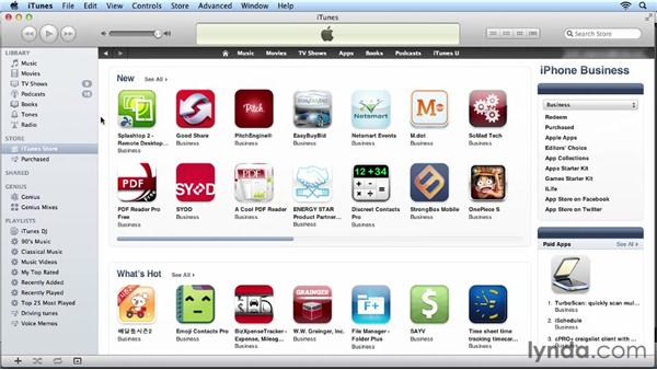 Browsing the App Store through iTunes: iPhone and iPod touch iOS 6 Essential Training