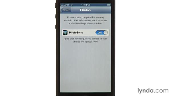 Privacy: iPhone and iPod touch iOS 6 Essential Training