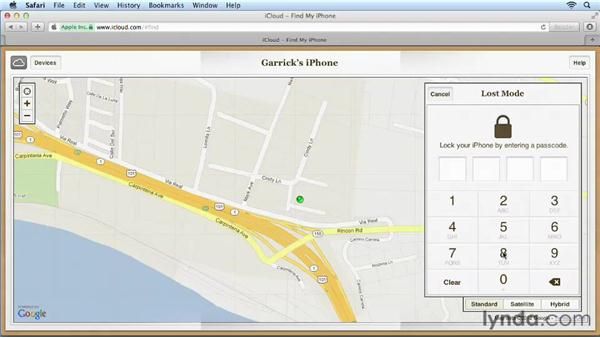 Using Find My iPhone: iPhone and iPod touch iOS 6 Essential Training