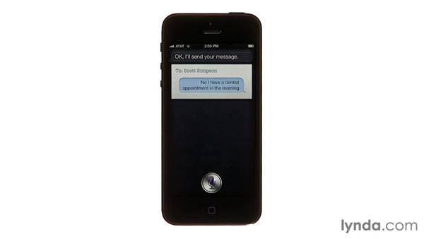 Listening and responding to messages: iPhone and iPod touch iOS 6 Essential Training