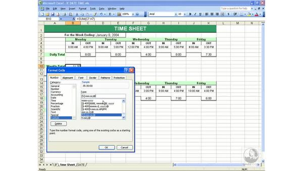 Time: Excel 2003 Essential Training