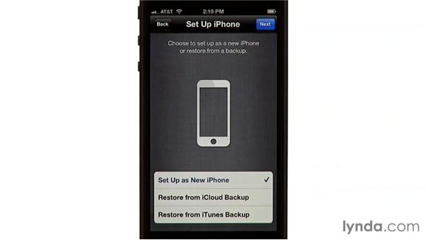 Erasing and restoring: iPhone and iPod touch iOS 6 Essential Training