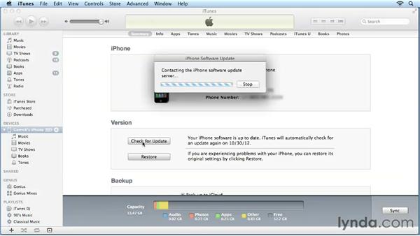 Checking for updates: iPhone and iPod touch iOS 6 Essential Training