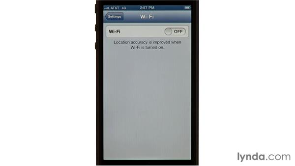 Extending battery life: iPhone and iPod touch iOS 6 Essential Training