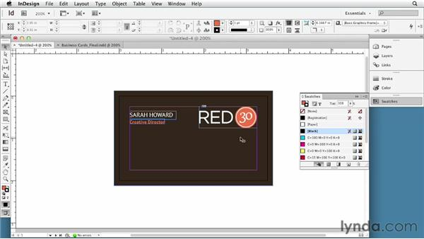 Designing the front of the card: Developing Brand Identity Collateral