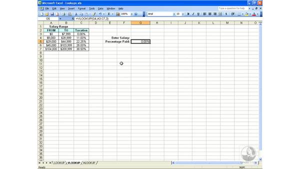 Lookup: Excel 2003 Essential Training