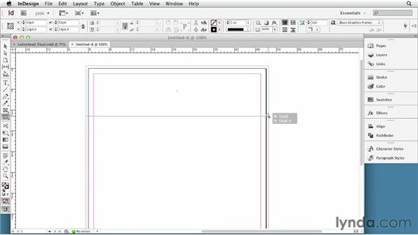 File setup and considerations for letterhead: Developing Brand Identity Collateral