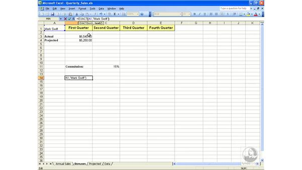 Compare text: Excel 2003 Essential Training