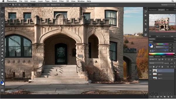 Correcting image adjustments: Digital Painting: Architecture